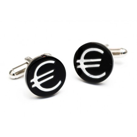 Steel cufflinks EURO