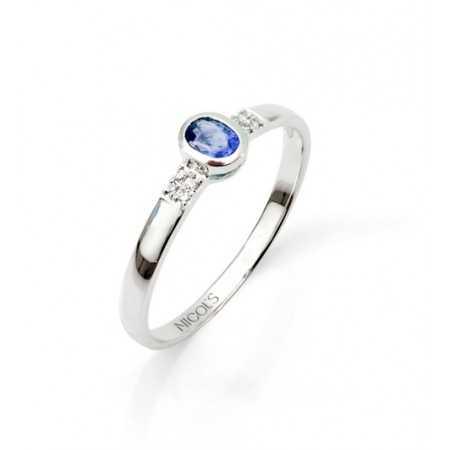 Anniversary Sapphire Ring DIAMOND COLOR