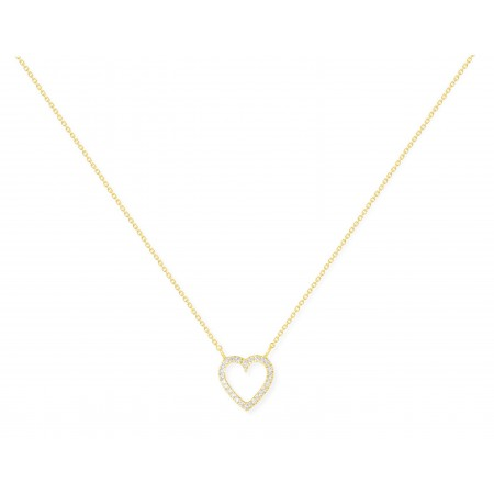 Gold necklace LOVE HEART