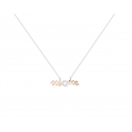 Gold necklace MAMA MOM MINI DETAILS