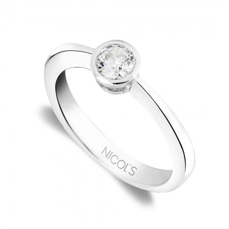 LADY White Gold (18kt) Engagement Ring with Diamond