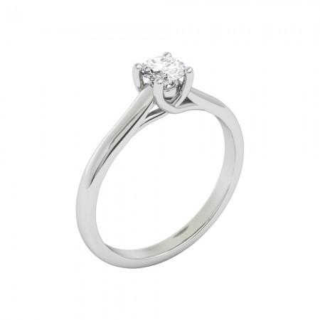 MEGAN White Gold (18kt) Engagement Ring with Diamond