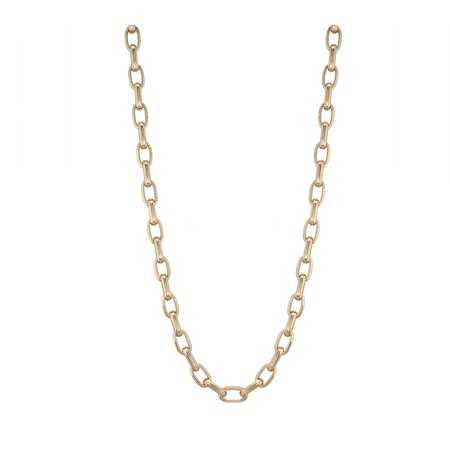 18kt Gold Chain 60cm 13x7 ESLABON GALLON