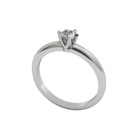 CHARLOTTE White Gold (18kt) Engagement Ring with Diamond