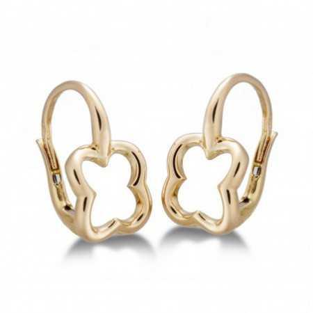BASIC gold earrings GOLD CLOVER