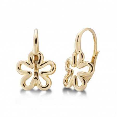 BASIC gold earrings GOLD FLOR FINA