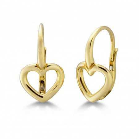 Gold Earrings GOLD HEART BASIC FINA