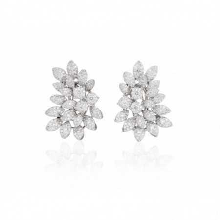 MULTIPLE BLADES diamond earrings