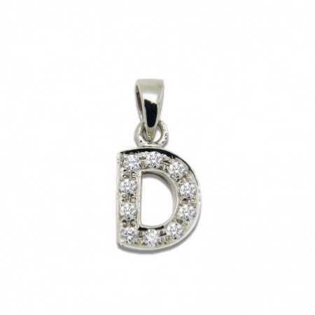 LETTER D Initial Pendant DIAMONDS