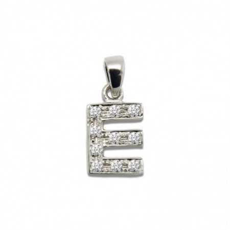 Initial Pendant E LETTER DIAMONDS