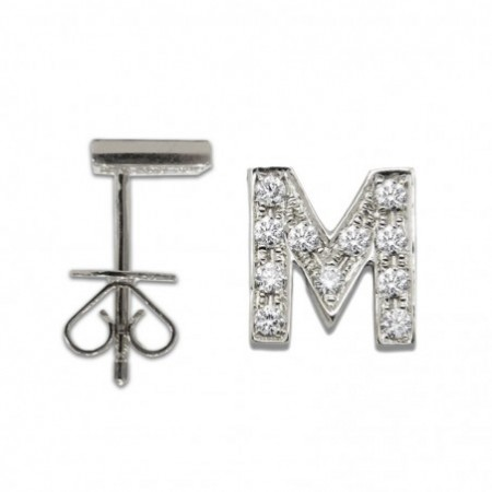 Initial Piercing Letter M