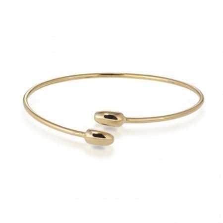 Gold Bracelet GOLD TU ME OVAL BASIC CONCAVO