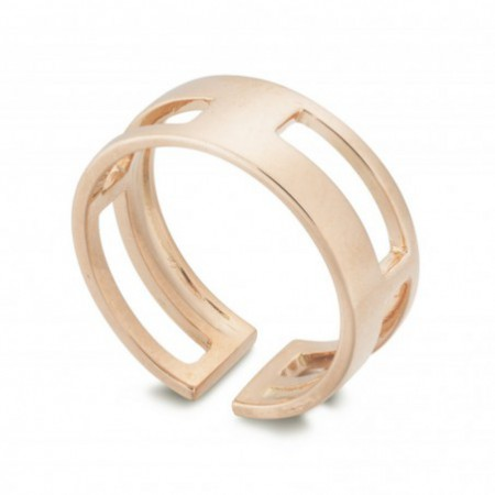 Gold ring BASIC GOLD THUMB 4 HOLLOW SQUARE