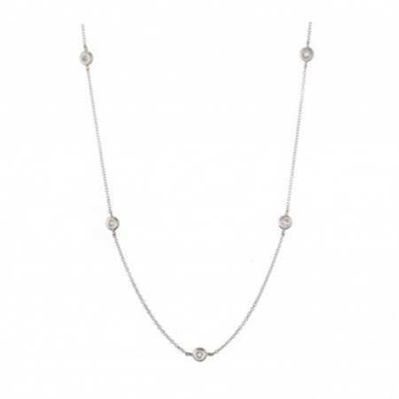 5 Spot gold necklace DIAMONDS
