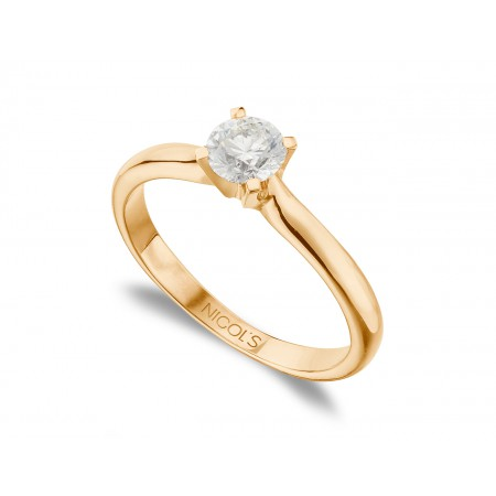 ELLE Engagement Ring Rose Gold (18kt) with Diamond