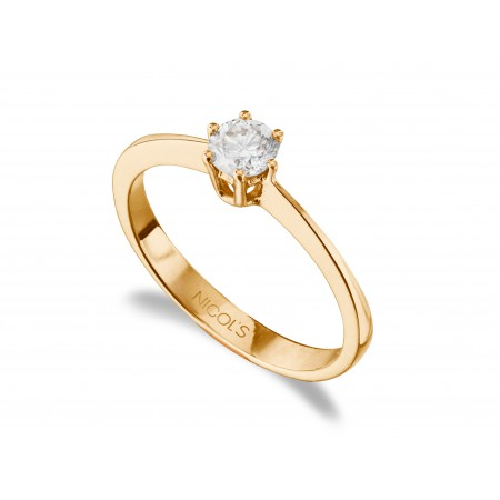 GERALDINE Rose Gold (18kt) Engagement Ring with Diamond