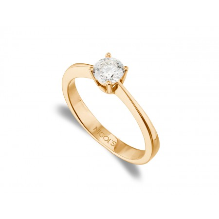 Engagement Ring ISABELLA Rose Gold (18kt) with Diamond