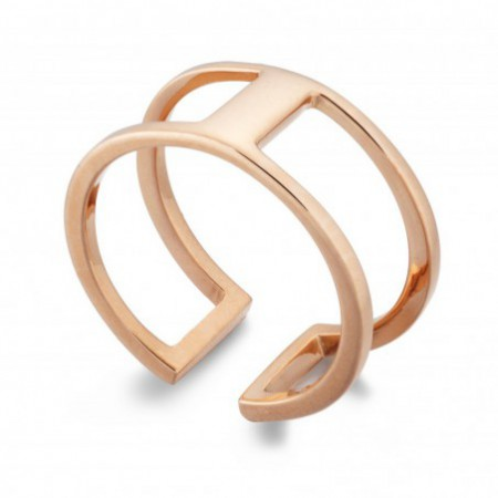 Gold ring BASIC THUMB DOUBLE GOLD BAR UNIDA