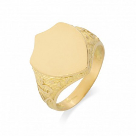 Gold Seal Shield Engraving