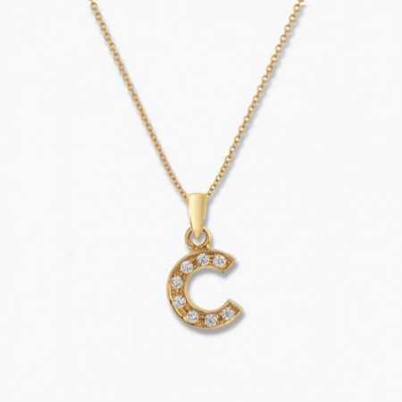Initial necklace C LETTER DIAMANTES