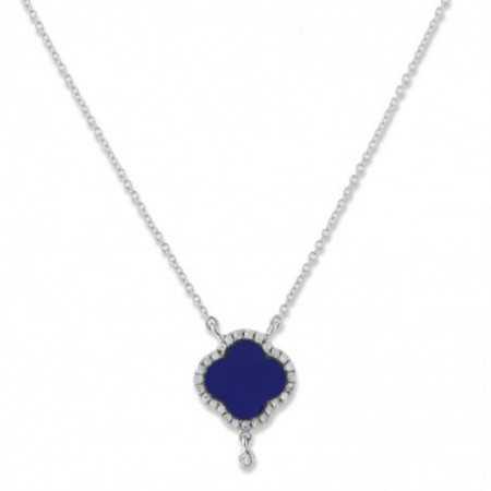 Gold necklace Lapislazuli OPAQUE STONES
