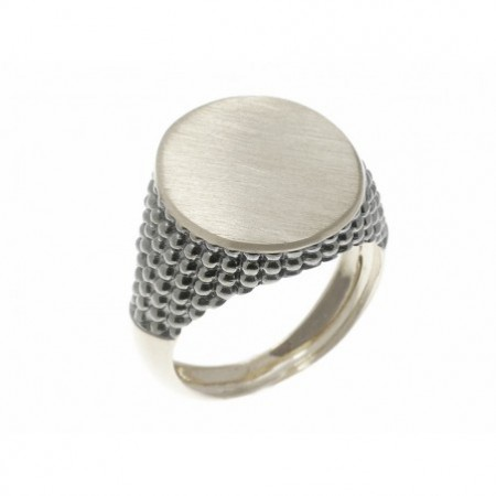 White Gold Seal Mate Modern Oval