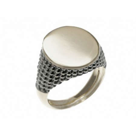 Seal White Gold Modern Oval
