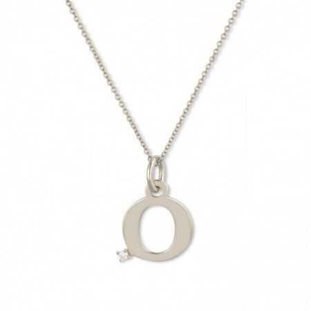 Collar Initial O DOT DIAMOND