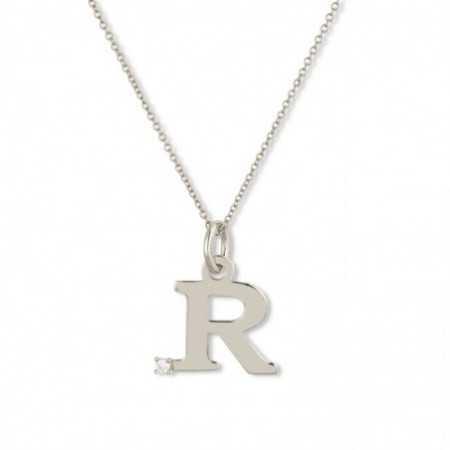 Collar Initial R DOT DIAMOND