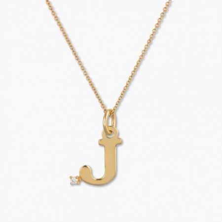 Necklace Initial J DOT DIAMOND