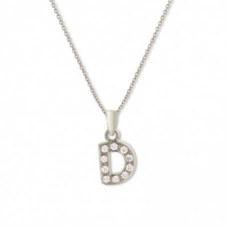Initial D Letter Necklace DIAMONDS