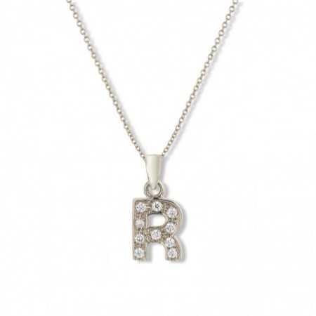 Initial necklace R LETTER DIAMANTES