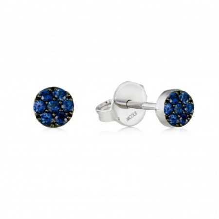 Earrings Circle BLUE MOON