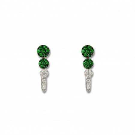 GREEN VELVET earrings Circulos