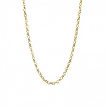 18kt Gold Chain 60cm ESLABONES
