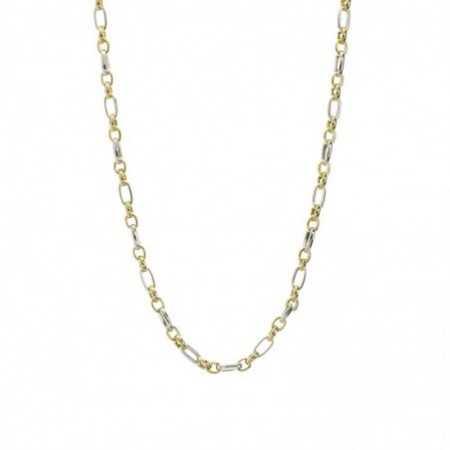 18kt Gold Chain 60cm ESLABON ALTERNO
