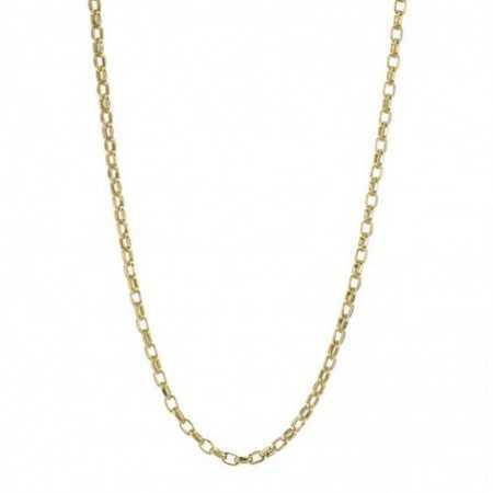 18kt Gold Chain 60cm ESLABON 9x6 STRAIGHT