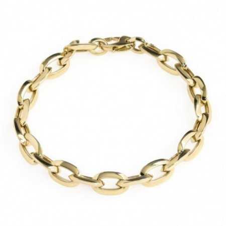 18kt Gold Bracelet 12x8 ESLABON BISEL