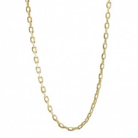 18kt Gold Chain 50cm ESLABON BISEL