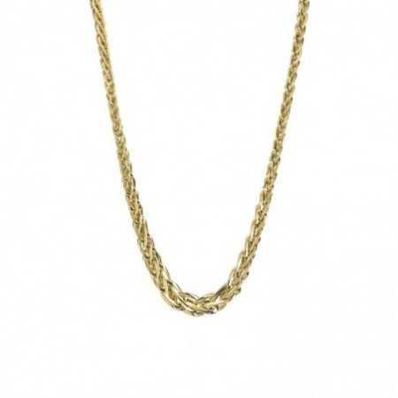 18kt Gold Chain 48cm ESLABON BRAID