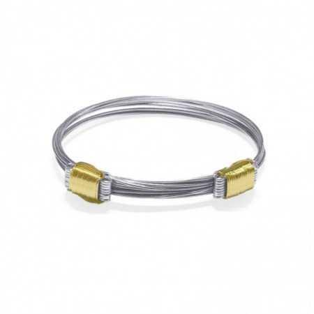 Silver Gold Bracelet Yellow KNOT CORREDERA