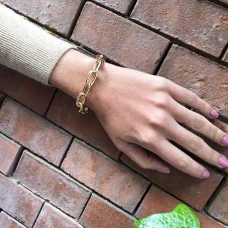 18kt Gold Bracelet ESLABON 60x10