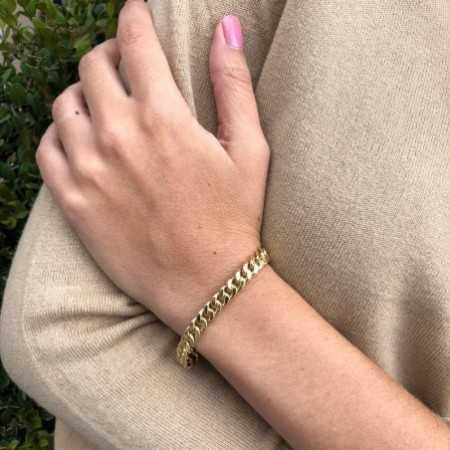 Golden bracelet 18KT ESLABON CUBANO 7.5mm S