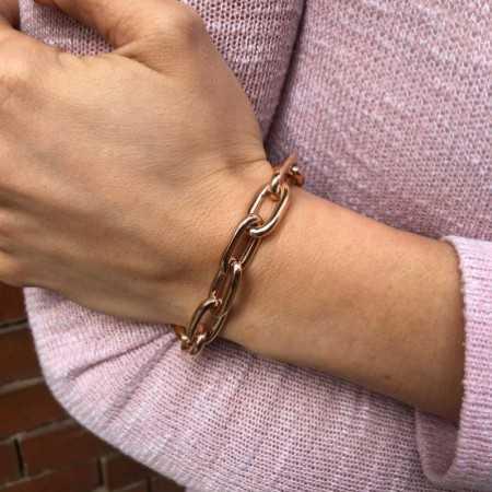 18kt Rose Gold Bracelet ESLABON 60x10