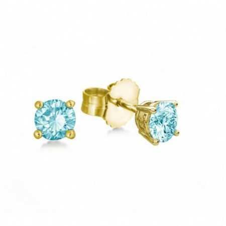 Earrings 1.00ct Brilliant Blue dormilonas KATHERINE
