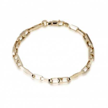 18kt Gold Bracelet 18cm BAR ESLABON