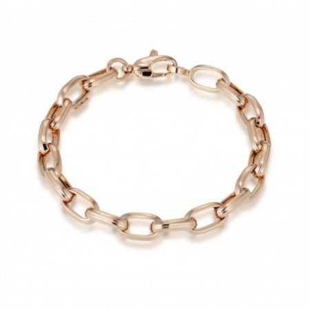 18kt Gold Bracelet 17cm 13x7 ESLABON GALLON