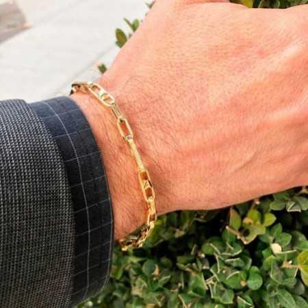 18kt Gold Bracelet 21cm BAR ESLABON