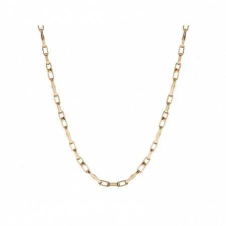 18kt Gold Chain 50cm ESLABON BARRA