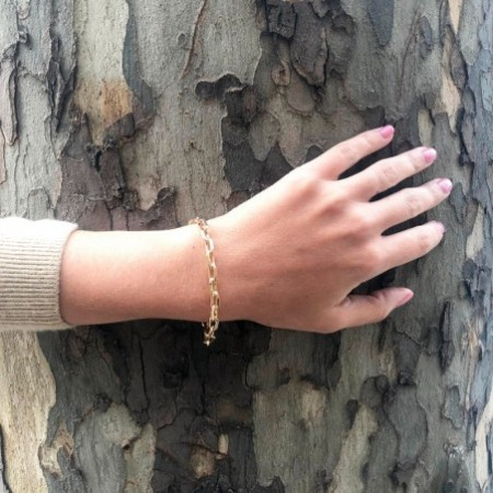 18kt Gold Bracelet 18cm ESLABON DAILY